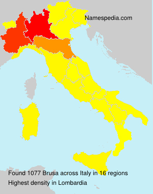 Surname Brusa in Italy