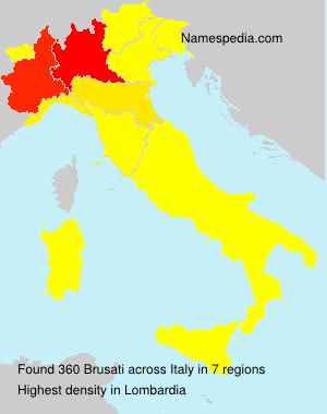 Surname Brusati in Italy
