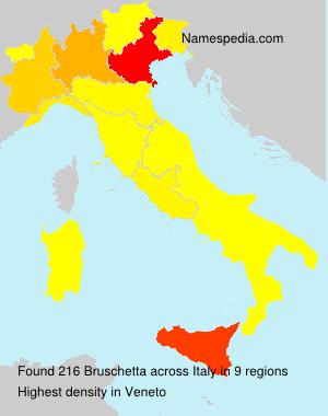Surname Bruschetta in Italy