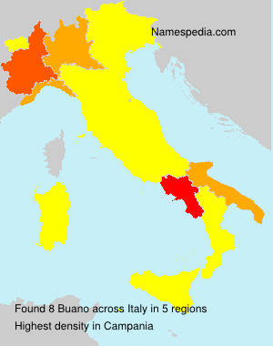 Surname Buano in Italy
