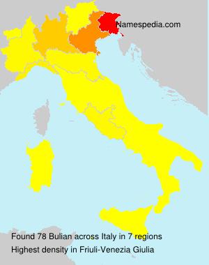 Surname Bulian in Italy
