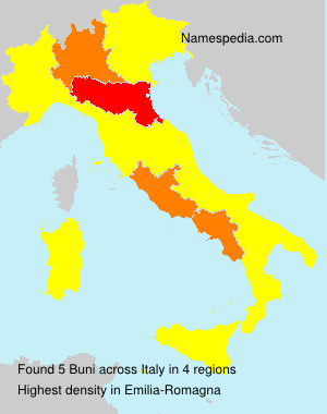 Surname Buni in Italy