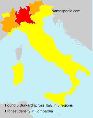 Familiennamen Burkard - Italy