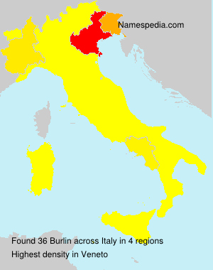Surname Burlin in Italy