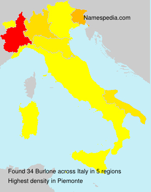 Surname Burlone in Italy