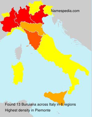 Surname Buruiana in Italy