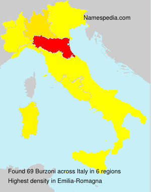 Surname Burzoni in Italy