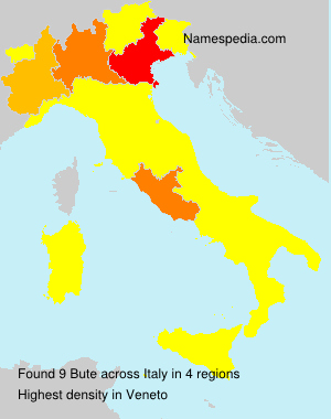 Surname Bute in Italy