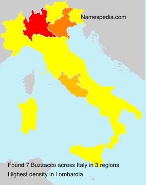 Surname Buzzacco in Italy