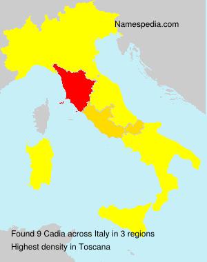 Familiennamen Cadia - Italy