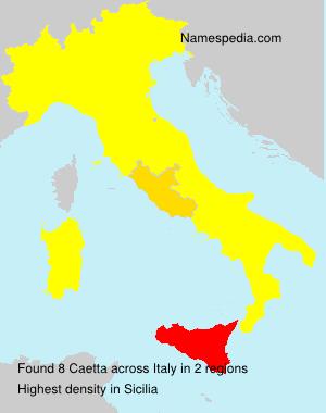 Surname Caetta in Italy