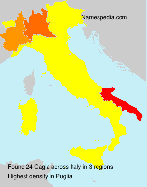 Surname Cagia in Italy