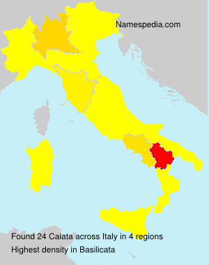 Surname Caiata in Italy