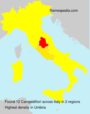 Surname Campodifiori in Italy