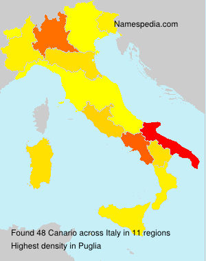 Surname Canario in Italy