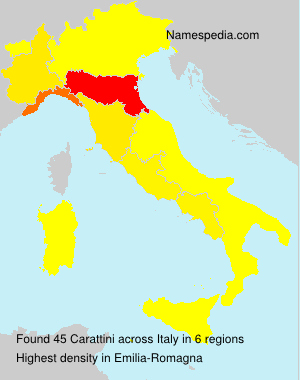 Surname Carattini in Italy
