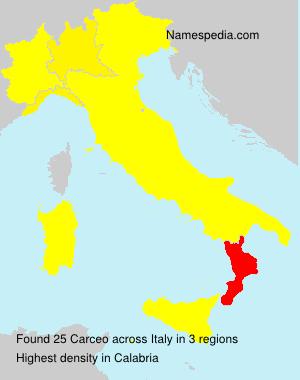 Familiennamen Carceo - Italy