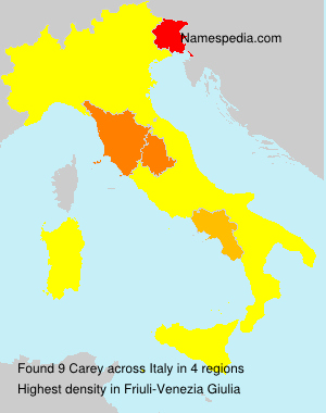 Surname Carey in Italy