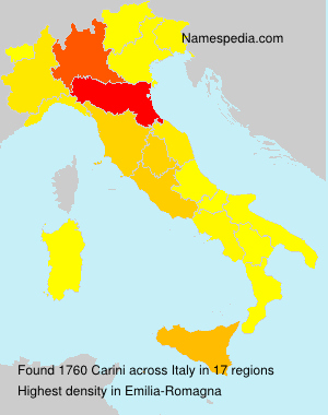 Surname Carini in Italy