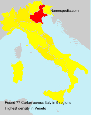 Surname Carlan in Italy