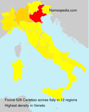 Surname Carlesso in Italy
