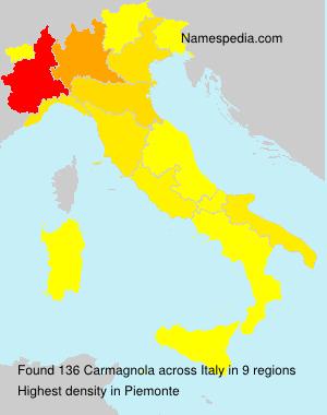 Familiennamen Carmagnola - Italy