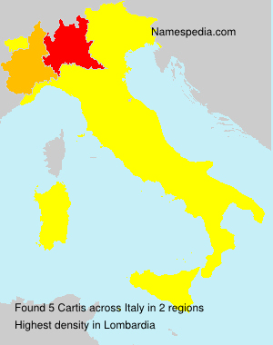 Surname Cartis in Italy