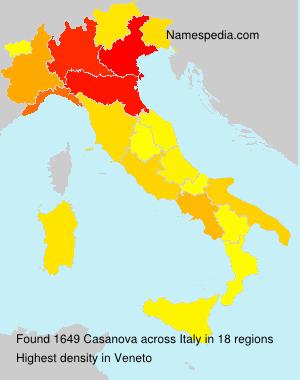 Surname Casanova in Italy