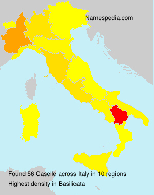 Surname Caselle in Italy