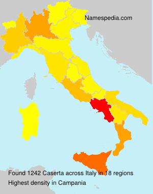 Surname Caserta in Italy