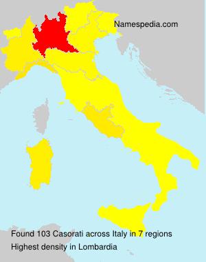 Surname Casorati in Italy