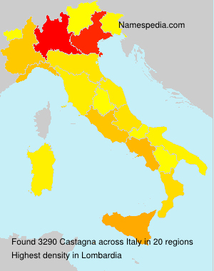 Surname Castagna in Italy