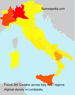 Familiennamen Castano - Italy