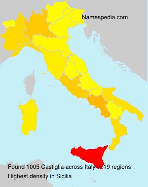 Surname Castiglia in Italy