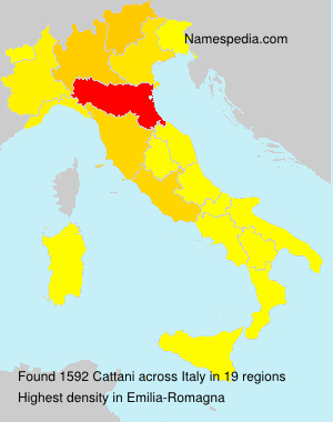 Surname Cattani in Italy
