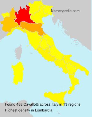 Surname Cavallotti in Italy