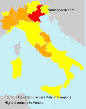 Surname Cavazzutti in Italy