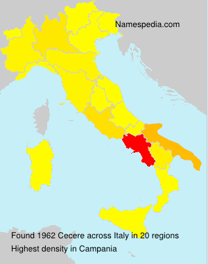 Surname Cecere in Italy