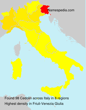 Surname Cedolin in Italy