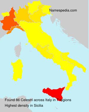 Surname Celestri in Italy