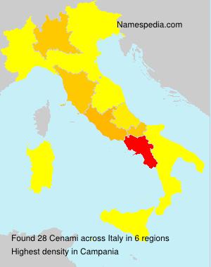 Familiennamen Cenami - Italy