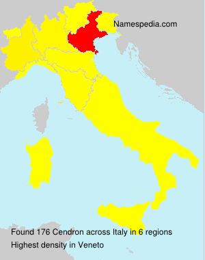 Surname Cendron in Italy