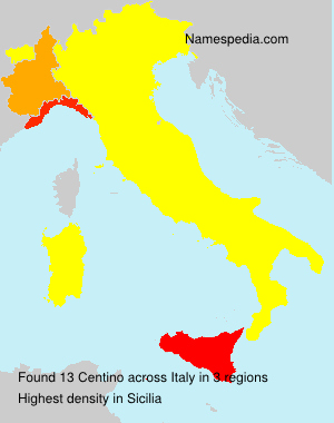Surname Centino in Italy