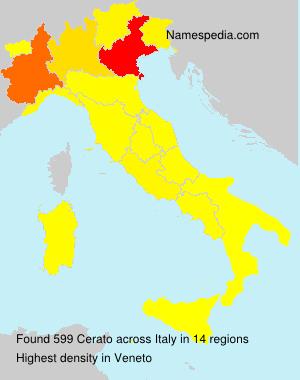 Surname Cerato in Italy