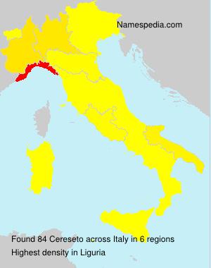 Familiennamen Cereseto - Italy