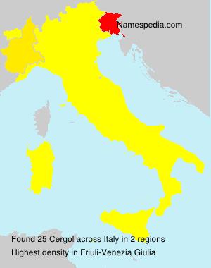 Familiennamen Cergol - Italy