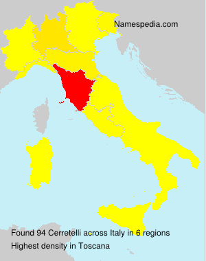 Surname Cerretelli in Italy