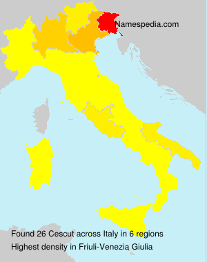 Surname Cescut in Italy