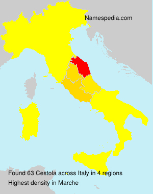 Familiennamen Cestola - Italy