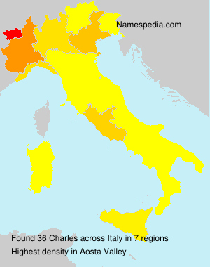 Surname Charles in Italy